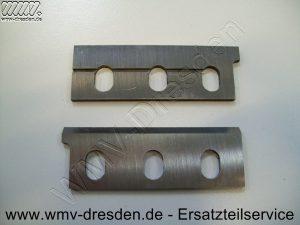 Ersatzteile für BLACK & DECKER , 1 Stück Hobelmesser HSS 80 x 27 x 2.9 mm für ELU MFF 40 / MFF 80 >>> alte Version <<< - Für Paar bitte 2 Stück bestellen !!! - (Art.Nr. 99991111-WMV)