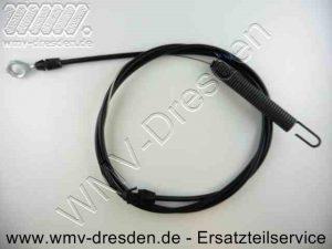 Kupplungskabel / Bowdenzug - Anschlüsse 1 x Oese, 1 x Feder >>> Gesamtlaenge 1,98 M - (Art.Nr. 583591701-ELE)