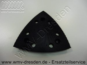 Klett-Schleifplatte >>> dreieckig , 6 Absaugloecher <<< - (Art.Nr. 2610392652)