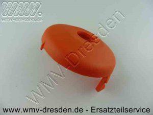 Spulenabdeckung mit Befestigungslaschen Aussendurchmesser 76 mm, Innenloch 19 mm