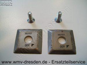 Schneidmessersatz 382068, 2 x 4-Kantmesser 35 x 35 mm , Lochdurchmesser 10 mm, 2 Befestigungsschrauben