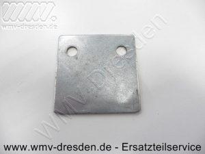Stützplatte 383507,63 x 63 mm, 40 mm Lochabstand